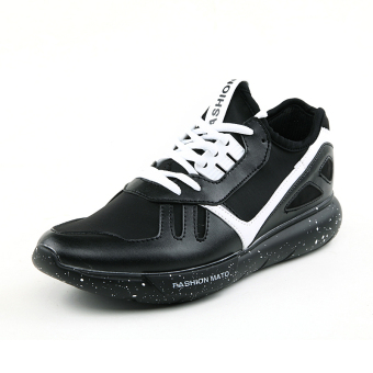 Men Fashion Trend Low Cut Sneakers-Black