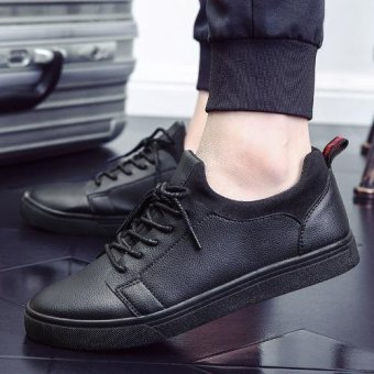 Men Fashion Walking Shoes New Casual Shoes (Black) - intl