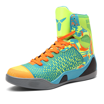 Men hight-top autumn New style men's shoes basketball shoes (2090 flourescent green)