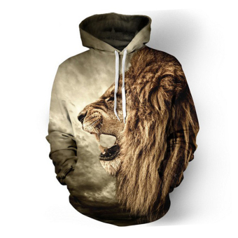 Men Hoodies Hip Hop Sweatshirt Funny 3D Lion Tracksuit Pullovers Price Philippines