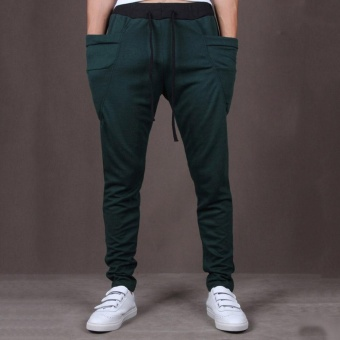 Men Jogger Casual Sport?Shorts Baggy Gym Harem Rope Pants Trouser -intl