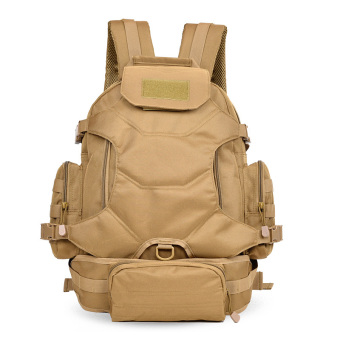 Men large capacity computer backpack outdoor bag (Khaki)