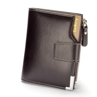 Men Leather Wallets Short Male Purse Clutch Mens Money Bag WalletCredit Card Holder With Zipper - intl