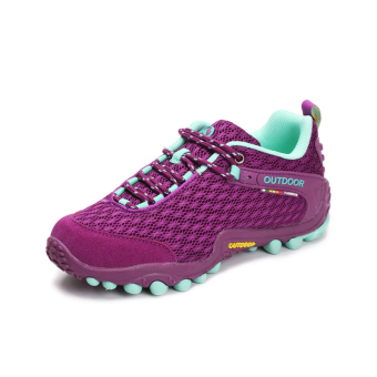 Online Men non-slip sports shoes outdoor climbing shoes (Zw1602 mesh purple) in Philippines