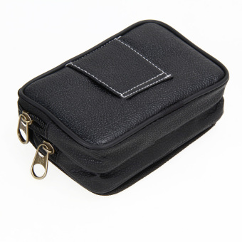 Men PU Leather Credit Card Holder Purse(Black)