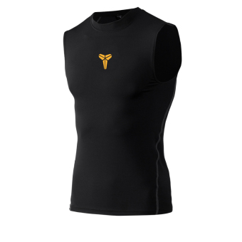 Men quick-drying ultra-stretch I fitness clothing training vest (Waistcoat Bryant black)