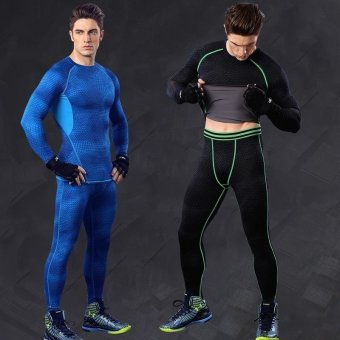 Men 's Elastic Compression Quick - Drying Clothes Fitness Clothing/ Sports Tights - intl