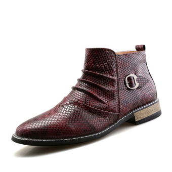 Men Slip-Ons Ankle Boots Fashion Shoes for Mens (Brown) - intl