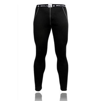 Men Thermal Fleece Compression Base Layer Shirt Leggings Tights Set- INTL - 4