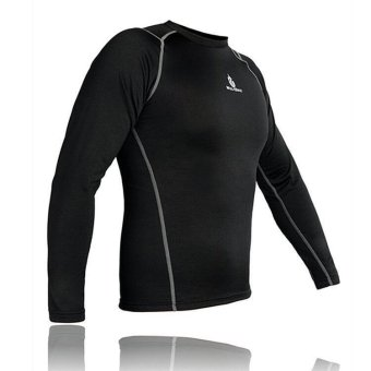 Men Thermal Fleece Compression Base Layer Shirt Leggings Tights Set- INTL - 5