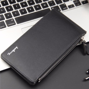 Men Wallets Zipper Male Long PU Leather Wallet Card Holder ClutchBags Zipper and Hasp Credit Card Money Bags - intl - 2