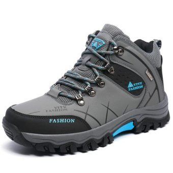 Men Wear Anti-skid Comfortable Breathable Hiking Shoes - intl