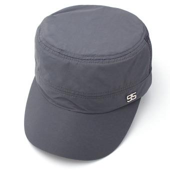 Men Women Army Plain Hat Sunshade Military Mesh Cadet Outdoors Baseball Flat Cap - 3