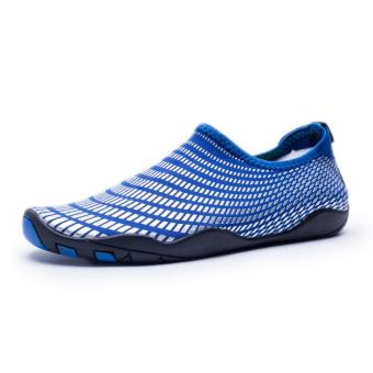 Men Women Swimming Yoga Beach Breath Shoes Sandals for SummerCasual Shoes (Blue) - intl - 2