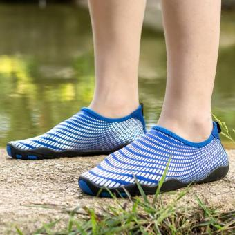 Men Women Swimming Yoga Beach Breath Shoes Sandals for SummerCasual Shoes (Blue) - intl - 4