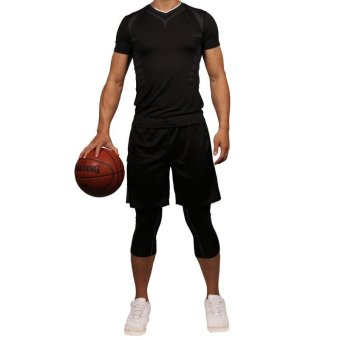 Men's Compression Capri Shorts Baselayer Cool Dry Sports Tights for Basketball fitness - intl - 3