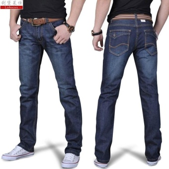 Men's Fashion Casual Wild Straight Slim Jeans Trousers - intl