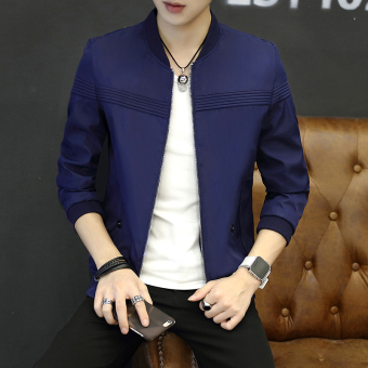 Men's Korean-style Slim Fit Thin Jacket (Shen Lan)