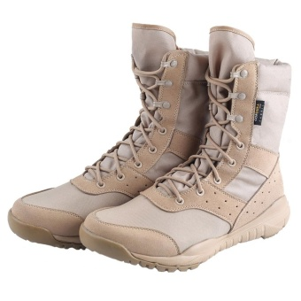 Men's LD Beige Desert Boots,Lightweight Lace up Combat Boots Military Tactical Outdoor Men Boots - intl - 2