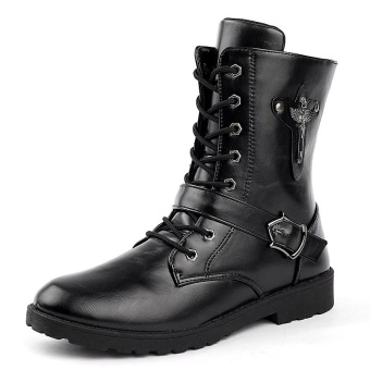 Men's Martin Boots High Upper Casual Shoes Comfortable Ankle Boots - intl