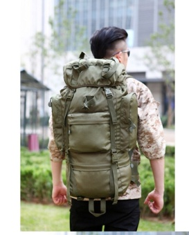 Men's new military backpack waterproof 1680 D Oxford bags travel 70 l backpack leisure notebook laptop boy backpack-green - intl