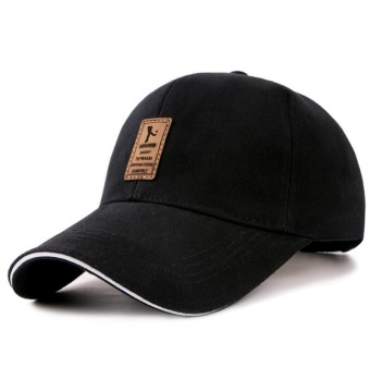 Men's Outdoor Leisure Baseball Cap Fashion Embroidery Golf Hat Hip Hop Caps Adjustable Elastic Strap of Hat for Four Seasons (Black) - intl