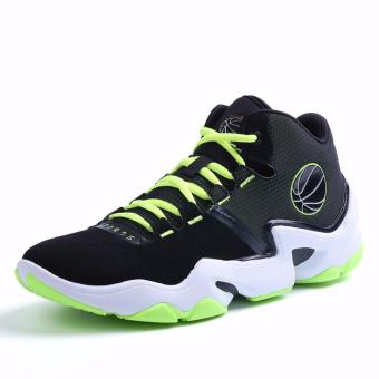 Men's Outdoors Sports Shoes Student Basketball Shoes for Mens Green 8019 - intl
