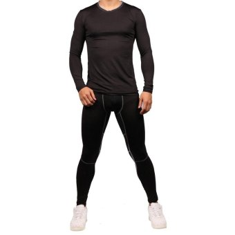 Men's Pants - Base Layer Leggings - Advanced Compression & Muscle Recovery for Running, Training & Athletics(Green) - intl - 2