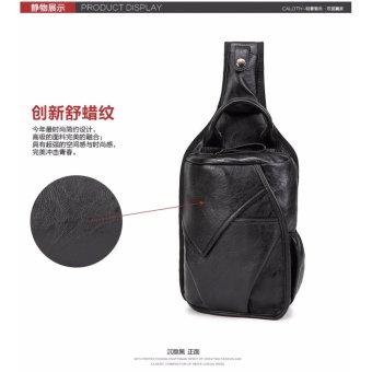 Men's PU Leather Vintage Chest Bag Fashion Crossbody Bag for Men Waterproof Sling Cross Body Bags Shoulder Bags Back Pack - intl - 5
