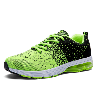 Men's shock absorption Wear-Resistant breathable tennis shoes genuine tennis shoes (9966 flourescent green)