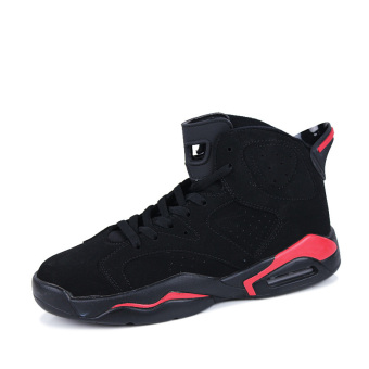 Men's Sport Fashion Basketball Shoes (black&red)(Export)