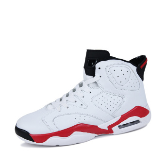 Men's Sport Fashion Basketball Shoes (white&red)(Export)