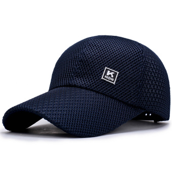 Men's summer Korean-style baseball cap hat (Blue)