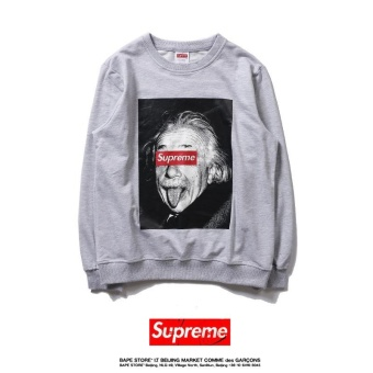 Men's Supreme Sweaters Fashion casual locomotive jacket Print breathable rash guards