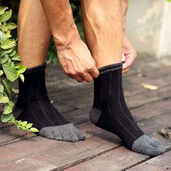 Men's tube toe socks (Black)