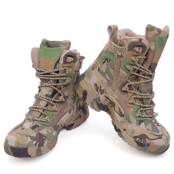 Mens Army Desert Combat Boots Tactical Outdoors Hunting shoes