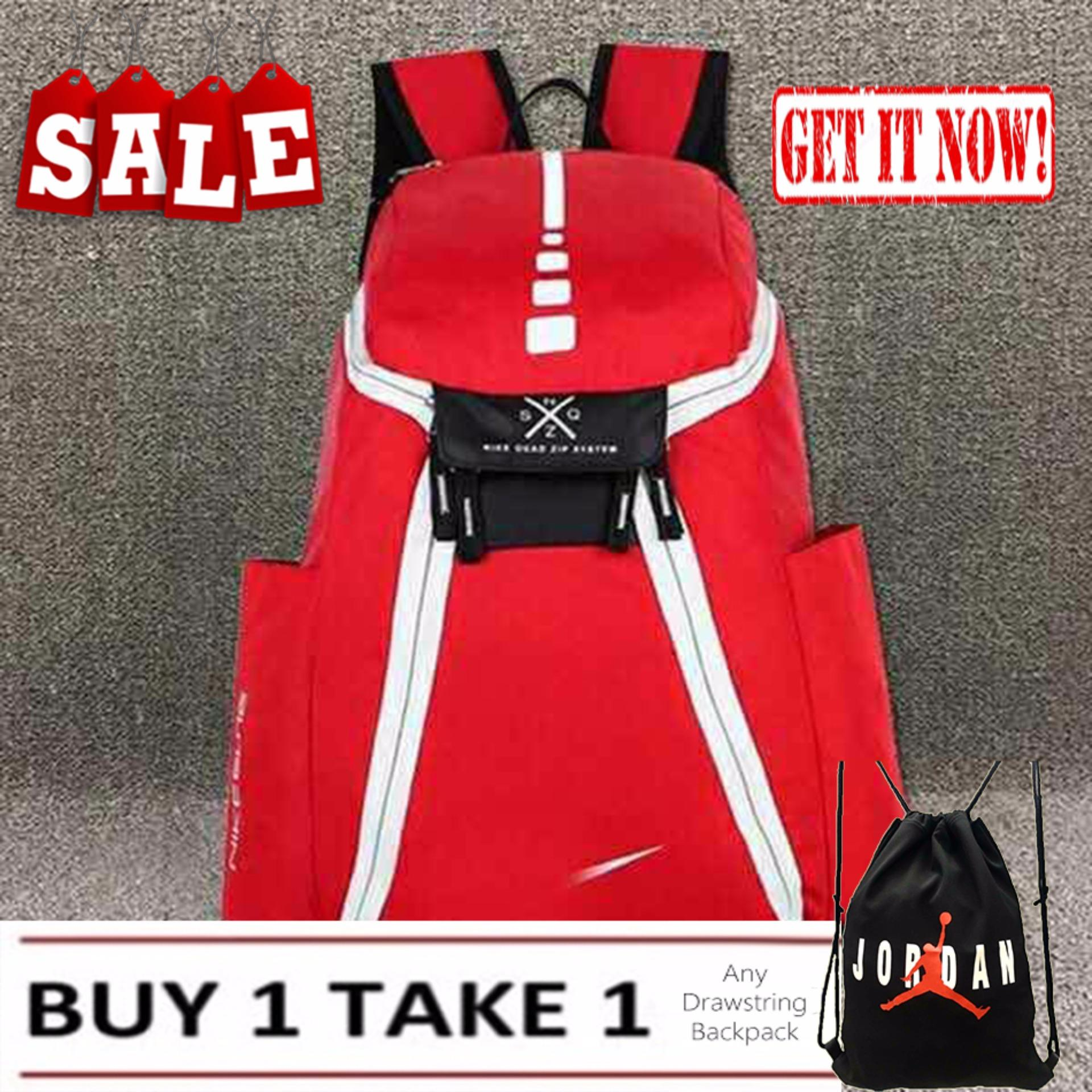 18f61b5648 ... Mens Backpack Nike Elite Red Sports Gym School Mens Womens Bag ...