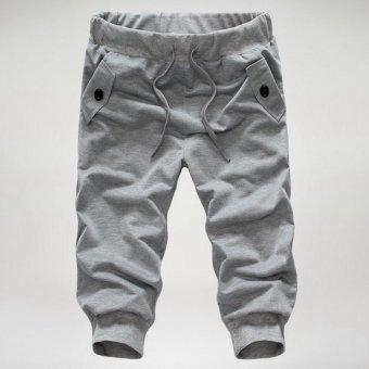Mens Casual Jogger Sports Shorts Pants (Light gray) - 5