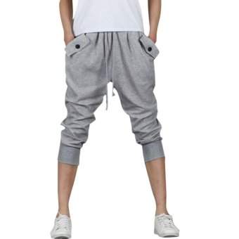 Mens Casual Jogger Sports Shorts Pants (Light gray) Price Philippines