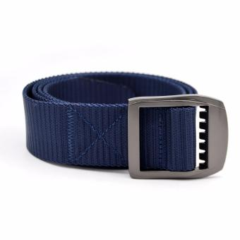 Men's Casual Wide Metal Buckle Belt (Blue)