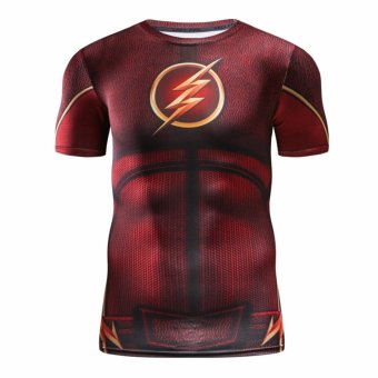 Men's Compression Fitness Shirt ,The Flash Printing Sports T-shirt- intl