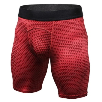 Men's Compression Shorts Baselayer Cool Dry Sports Tights (Red) -intl Price Philippines