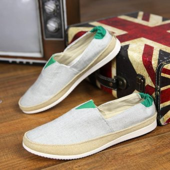 Men's Fashion On The Go Driving Shoes Canvas Shoes Daily CasualShoes Summer Shoes Slip-on Loafers Comfortable Walking Shoes - intl - 5