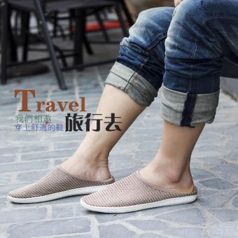 Men's Flat shoes Slip-Ons PU leather shoes Fashion Casual Loafersshoes - intl - 3