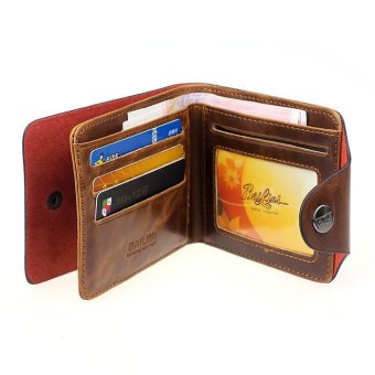 Mens Genuine Leather Bifold Wallet Brown - picture 2