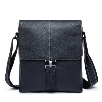 Mens Genuine Leather Shoulder Bag Briefcase Messenger Bag - intl