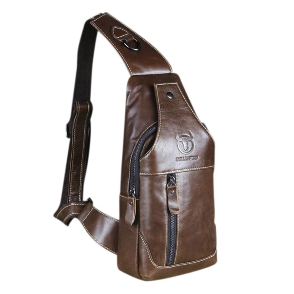Philippines Mens Genuine Leather Sling Bag Single Shoulder Men Nucelle Women Real Purse Daily Backpack Blue Chestcrossbody Satchel Waist Pack Colorbrown