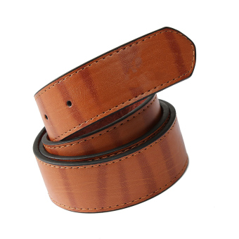 Mens Genuine Leather Vintage Metal Automatic Buckle Waist Band Strap Belt Brown - 5