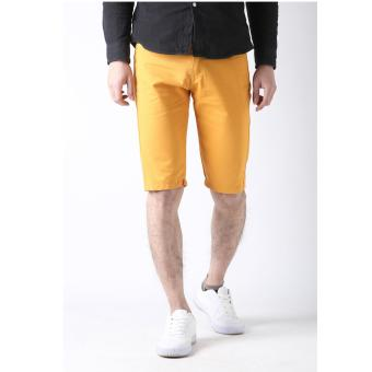 Men's Korean Style Casual Simple Plain Short (Yellow)