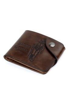 Men's Leather Card Wallet Coffee - picture 2